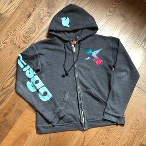 Freecity Grey zipper sweatshirt